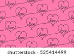 pink seamless background with... | Shutterstock .eps vector #525414499