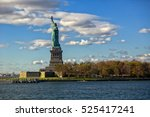 statue of liberty with entire...   Shutterstock . vector #525417241