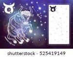 taurus  sign.taurus ope... | Shutterstock . vector #525419149