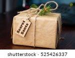 present from secret santa on... | Shutterstock . vector #525426337