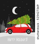 happy holidays  merry christmas ... | Shutterstock .eps vector #525427369