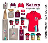 corporate style bakery.... | Shutterstock .eps vector #525429355