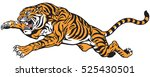 tiger jump. angry big cat .... | Shutterstock .eps vector #525430501