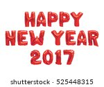 word happy new year in english... | Shutterstock . vector #525448315