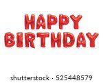word happy birthday in english... | Shutterstock . vector #525448579