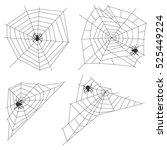 spider web  set spider webs ... | Shutterstock .eps vector #525449224