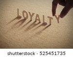 Loyalty Wood Word On Compresse...