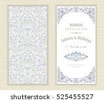 wedding invitation cards ... | Shutterstock .eps vector #525455527