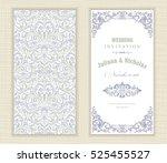 wedding invitation cards ... | Shutterstock .eps vector #525455527