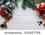 christmas decorations  gifts... | Shutterstock . vector #525457759