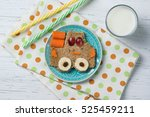 funny sandwich with car  meal... | Shutterstock . vector #525459211