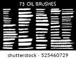 painted grunge stripes set.... | Shutterstock .eps vector #525460729