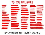 painted grunge stripes set. red ... | Shutterstock .eps vector #525460759