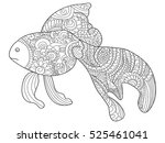 goldfish sea animal coloring... | Shutterstock .eps vector #525461041
