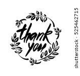 thank you handwritten vector... | Shutterstock .eps vector #525462715