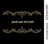 gold thin frame made in vector. ... | Shutterstock .eps vector #525464389
