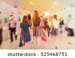 motion blur of people walking... | Shutterstock . vector #525468751