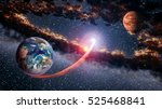 outer space planet earth mars... | Shutterstock . vector #525468841