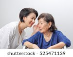 asian elderly woman hearing... | Shutterstock . vector #525471139