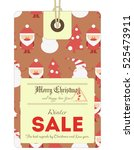 christmas sale tag in retro... | Shutterstock .eps vector #525473911