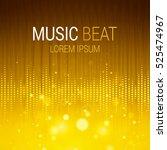 music beat vector. yellow... | Shutterstock .eps vector #525474967