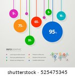 creative business success chart ... | Shutterstock .eps vector #525475345