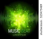 Music Beat Vector. Green Light...