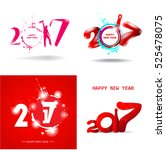 happy new year 2017 abstract... | Shutterstock .eps vector #525478075