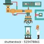robotic system  advanced... | Shutterstock .eps vector #525478861