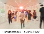 motion blur of people walking... | Shutterstock . vector #525487429