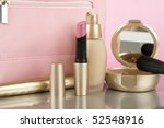 cosmetics on the table. basic... | Shutterstock . vector #52548916