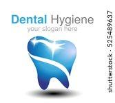 vector dentist logo design...   Shutterstock .eps vector #525489637
