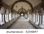 ancient white corridor with... | Shutterstock . vector #5254897