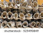Small photo of Air-dried codfish heads on racks in Reine on the Lofoten islands in Norway