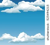 blue sky clouds background... | Shutterstock .eps vector #525494215