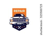 classic car illustration  front ... | Shutterstock .eps vector #525500725