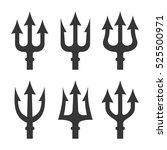 trident silhouette set on white ... | Shutterstock .eps vector #525500971