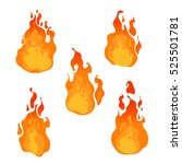 fire flames of different shapes ... | Shutterstock .eps vector #525501781