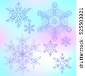 set abstract snowflake.... | Shutterstock .eps vector #525503821
