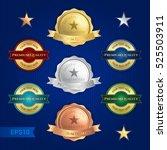 set of satisfaction guarantee... | Shutterstock .eps vector #525503911