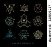 sacred geometry abstract signs... | Shutterstock .eps vector #525508237