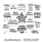 merry christmas collection ... | Shutterstock .eps vector #525511039