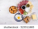 traditional turkish breakfast ... | Shutterstock . vector #525511885