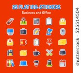 set of 25 flat icons. business... | Shutterstock . vector #525514504
