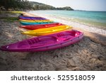 Kayak Multi Colored Beach