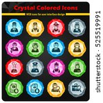 job search crystal color icons... | Shutterstock .eps vector #525519991