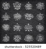set of merry christmas badges... | Shutterstock .eps vector #525520489