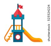 illustration of a children... | Shutterstock . vector #525524224