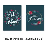 vector set of hand drawn of... | Shutterstock .eps vector #525525601