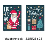 vector set of hand drawn of... | Shutterstock .eps vector #525525625